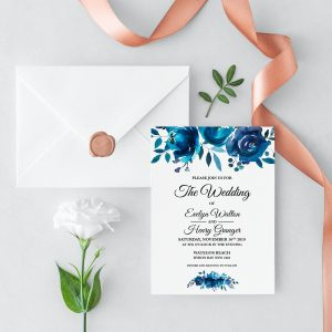 Something Blue Wedding Invitation