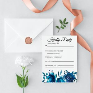 Something Blue RSVP Card