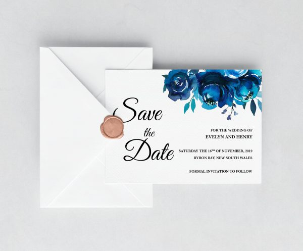 Something Blue Save the Date Card