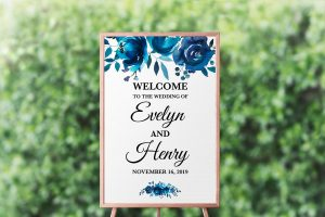 Something Blue Welcome Sign