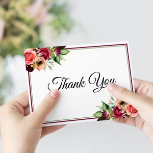 Autumn Blooms Thank You Card