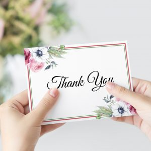Anemone and Eucalyptus Thank You Card