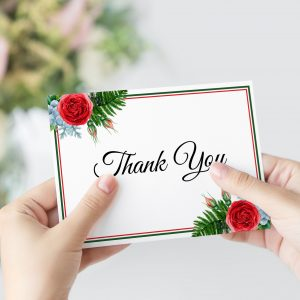Crimson Natives Thank You Card