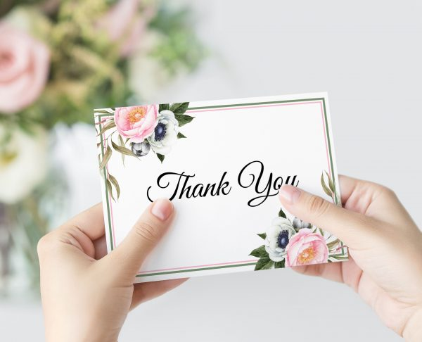 Dusty Blooms Thank You Card