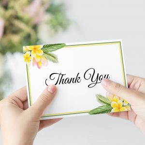 Frangipani Bliss Thank You Card