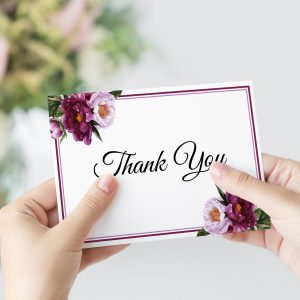 Marsala Blooms Thank You Card