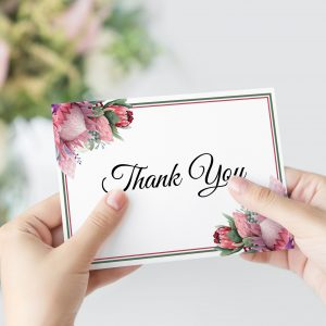 Native Florals Thank You Card
