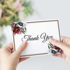 Ruby Helleborus Thank You Card