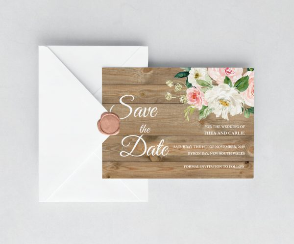 Country Belle Save the Date Card