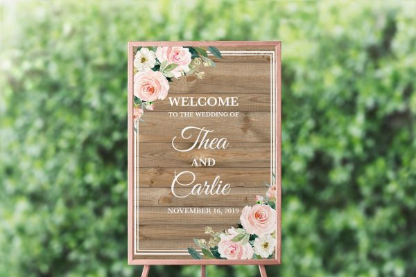 Country Belle Wedding Sign