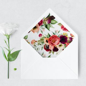 Autumn Blooms Envelope Liner