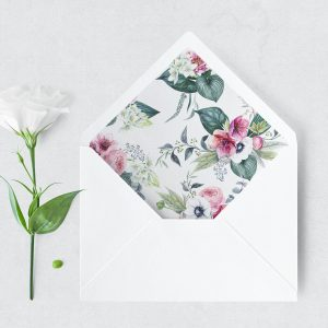 Anemone and Eucalyptus Envelope Liner
