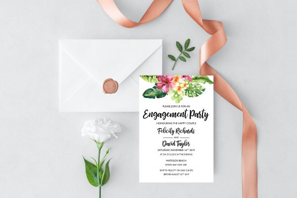 Aloha Engagement Invitation