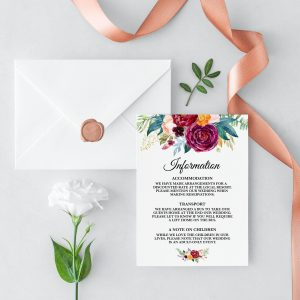 Berry and Blush Blooms Information Cards