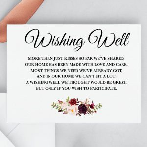 Burgundy Blooms Wishing Well Cards
