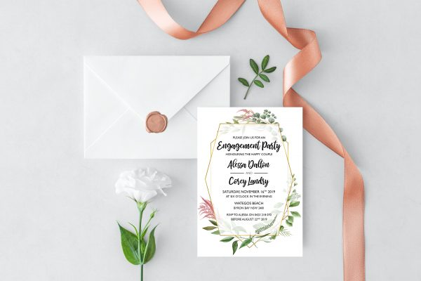 Byron Wilderness Engagement Invitation