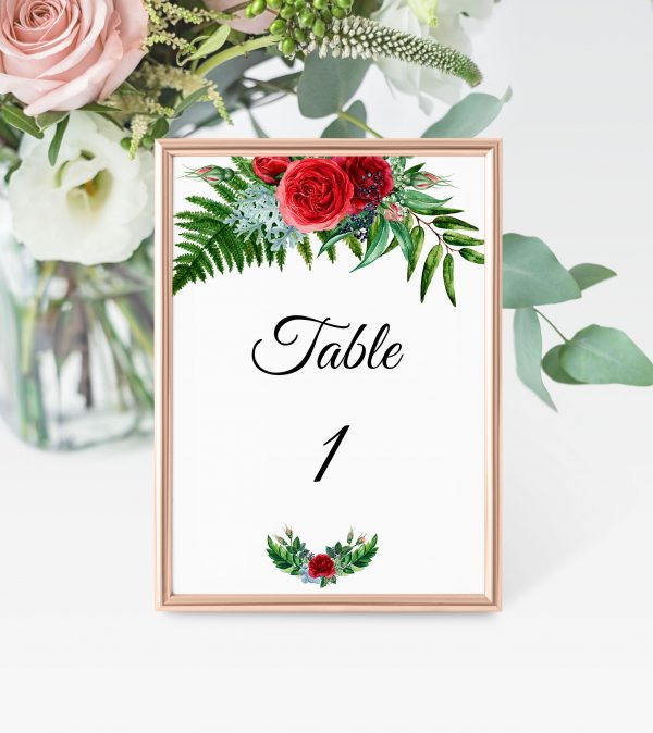 Crimson Natives Table Numbers