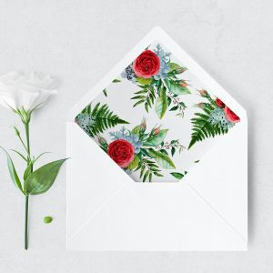 Crimson Natives Envelope Liner