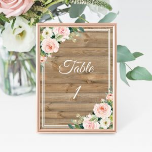 Country Belle Table Numbers