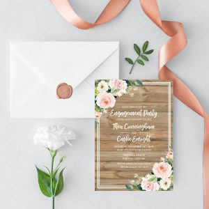 Country Belle Engagement Invitation