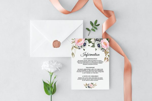 Dusty Blooms Information Cards