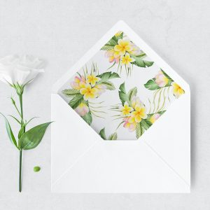 Frangipani Bliss Envelope Liner