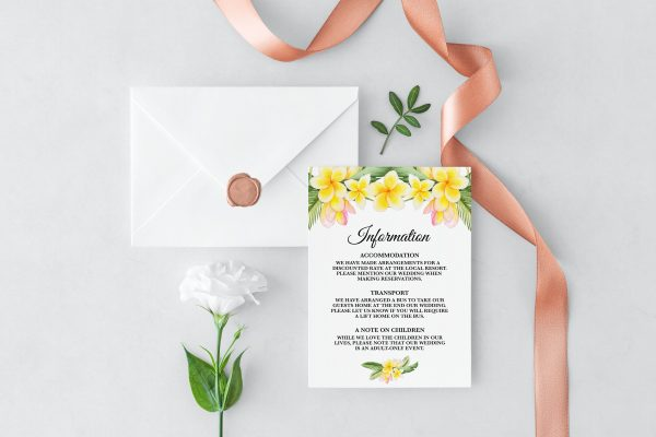 Frangipani Bliss Information Cards