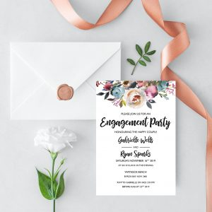 Misty Rose Engagement Invitation