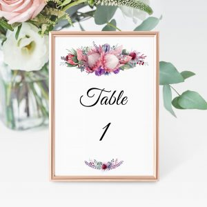 Native Florals Table Numbers