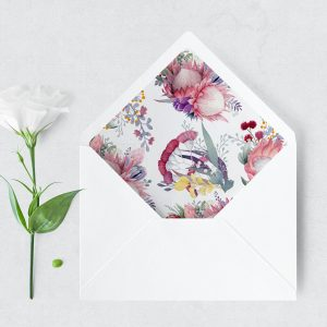 Native Florals Envelope Liner
