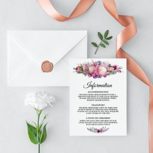 Native Florals Information Cards
