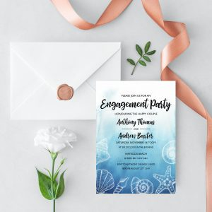 Ocean Dreams Engagement Invitation