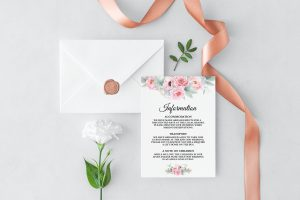 Pink Peonies Information Cards