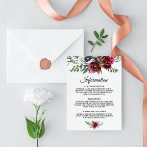 Ruby Helleborus Information Cards