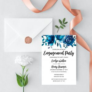 Something Blue Engagement Invitation