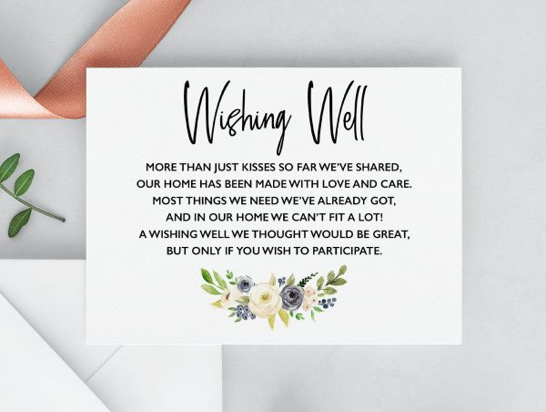 Indigo Blossoms Wishing Well Cards