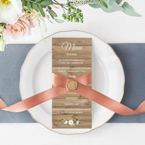 Forever After Menu Cards