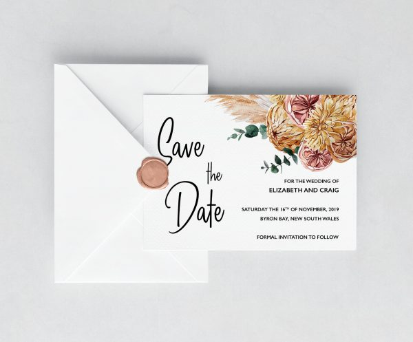 Bohemian Gypsy Save the Date Cards