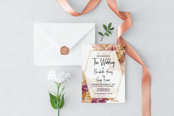 Bohemian Gypsy Wedding Invitation