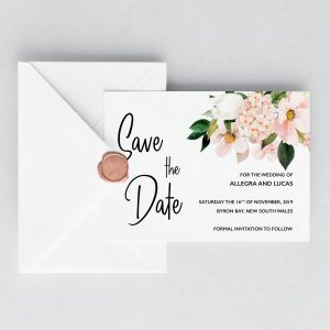 Blush Hydrangeas Save the Date Cards