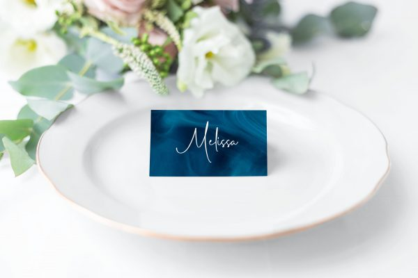 Blue Smoke Place Cards