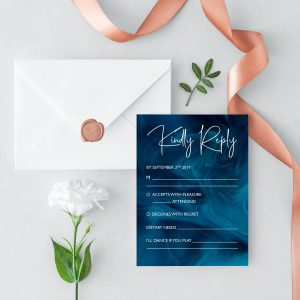 Blue Smoke RSVP Card