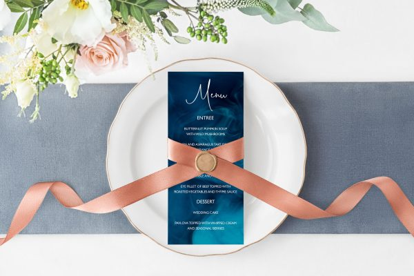 Blue Smoke Menu Cards