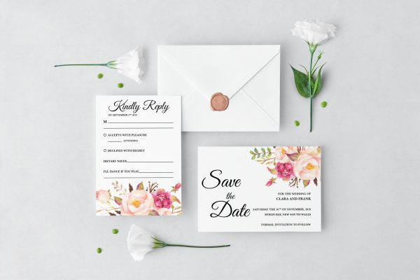 Blushing Blooms Wedding Set