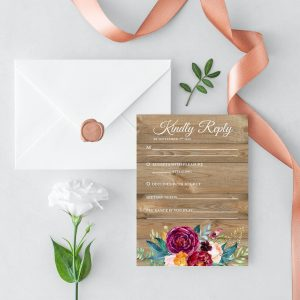 Cottage Garden RSVP Cards