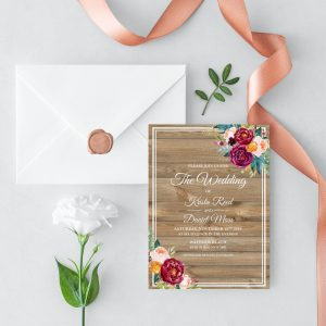 Cottage Garden Wedding Invitation