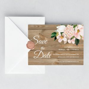 Country Hydrangeas Save the Date Cards
