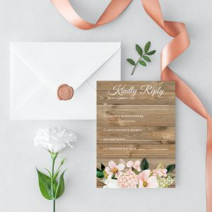Country Hydrangeas RSVP Cards