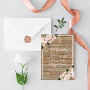 Country Hydrangeas Wedding Invitation