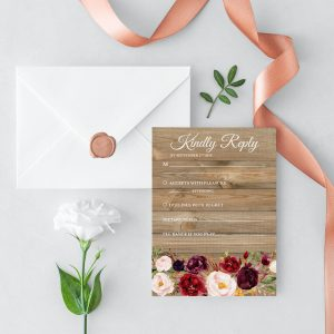 Country Blooms RSVP Cards